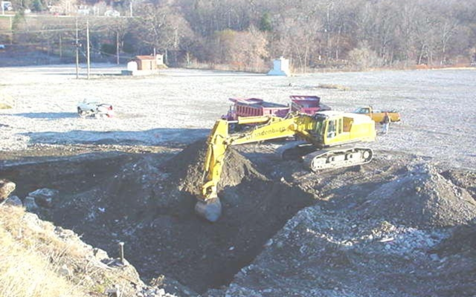 soil excavation at remediation site